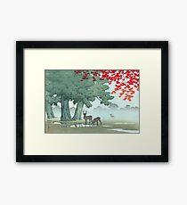 Japanese Print - Kawase Bamboo - Nara Park (1953) Framed Print