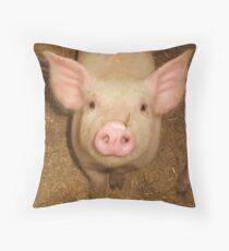 Nosey Piggy ...oink! Throw Pillow