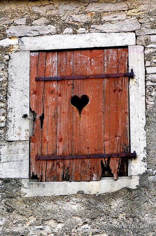 Heart shaped dijon france antique rustic brick cement