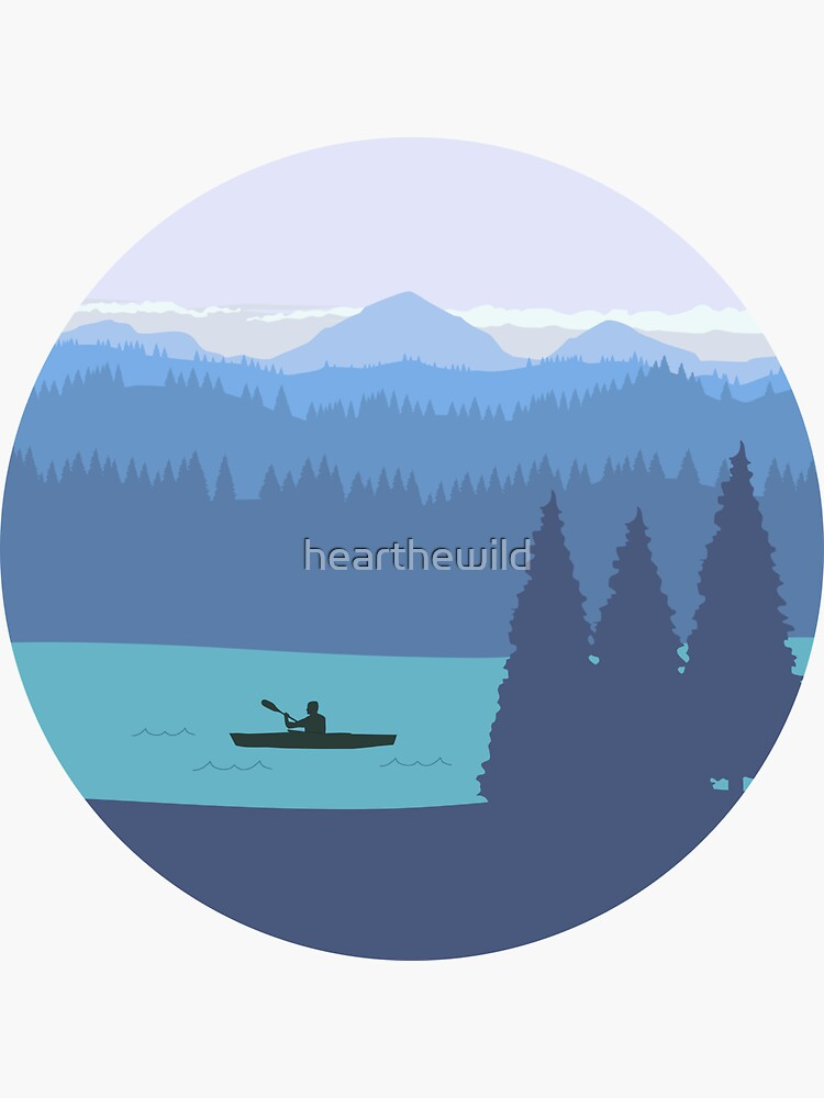 Kayak, forest and mountains by hearthewild