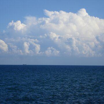 blue seascape by ralukatudor