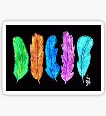 Neon feathers Sticker