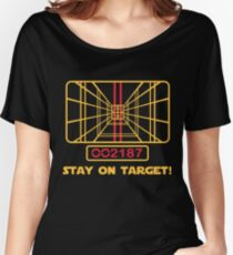 Stay on Target - Star Wars T-shirt Women's Relaxed Fit T-Shirt