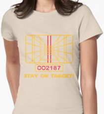 Stay on Target - Star Wars T-shirt Womens Fitted T-Shirt