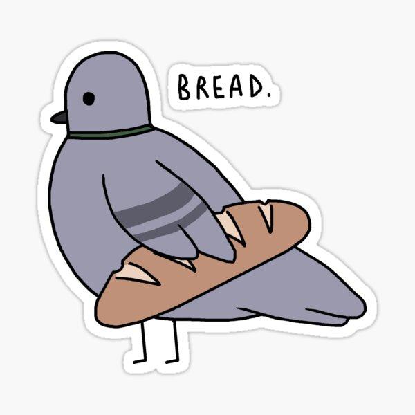 Baguette Pigeon Sticker