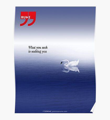 Rumi quote Poster