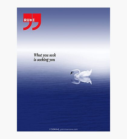 Rumi quote Photographic Print