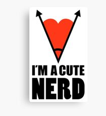 Im Nerd Cute Nerd Canvas Print