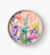 Cacti Flowers Clock