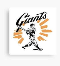 San Francisco Giants Schedule Art from 1958 Canvas Print