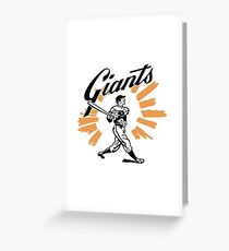San Francisco Giants Schedule Art from 1958 Greeting Card