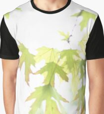 Spring Silver Maple Leaves Graphic T-Shirt