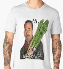 The Walking Dead Negan - Hi, I'm Vegan (Negan Men's Premium T-Shirt
