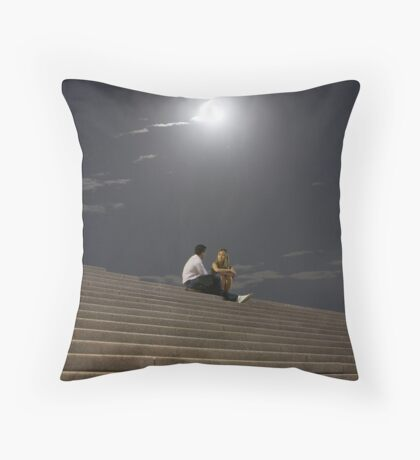 Discussion Under the Moon Throw Pillow
