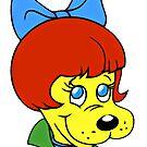 Helle Augen, Pfund Welpen 80er Jahre Cartoon von RainbowRetro