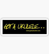 Got A Ukulele logo Sticker