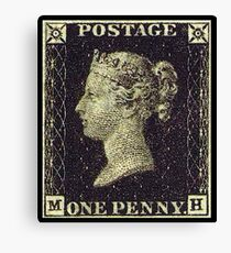 Penny Black, Stamp, Post, Postage, Mail, 1837 Canvas Print