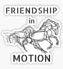 Horse friendship in motion  Sticker