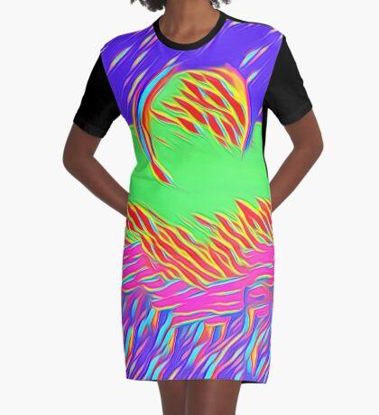 Moonlight Graphic T-Shirt Dress