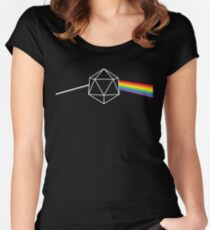 Dark Side of the Moon d20 Dungeon Master Women's Fitted Scoop T-Shirt