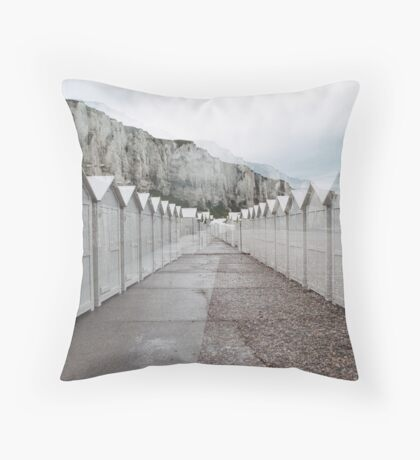 N°158: Double-exposure at the beach 2 Throw Pillow