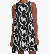 Bichon Frise Camo Silver A-Line Dress