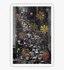 New York city flowers Sticker