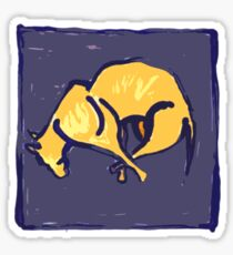 TIRED OLD DOG AT NIGHT  Sticker