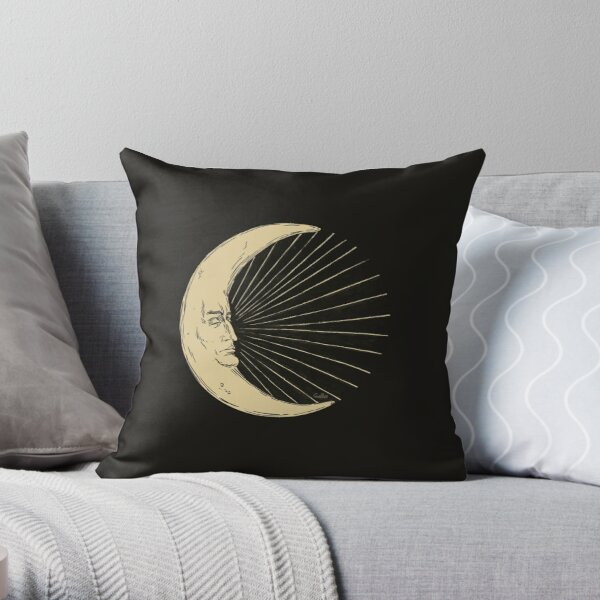 Crescent of Moon Throw Pillow