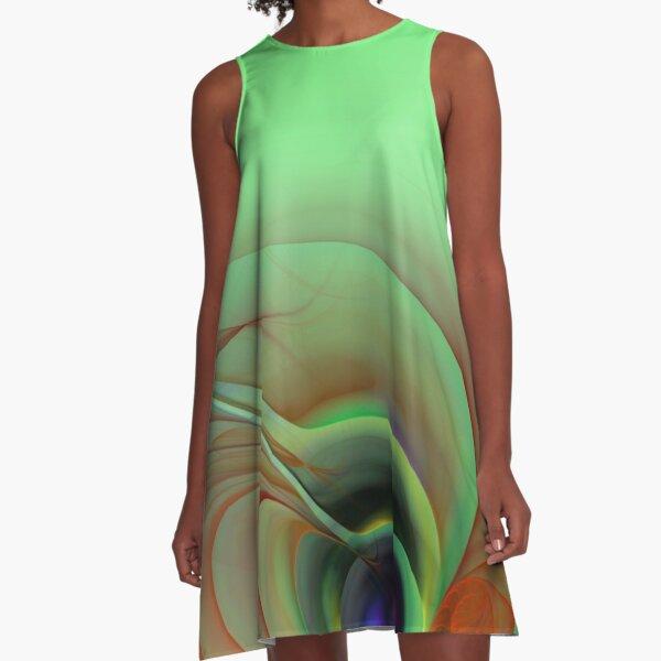 fractal elegance in pastell colors -4- A-Linien Kleid