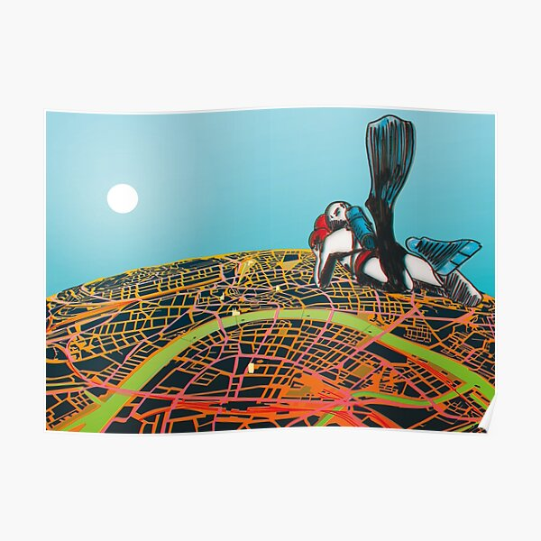 Basel Citymap Artwork | SKYDIVER (3D special edition) Poster