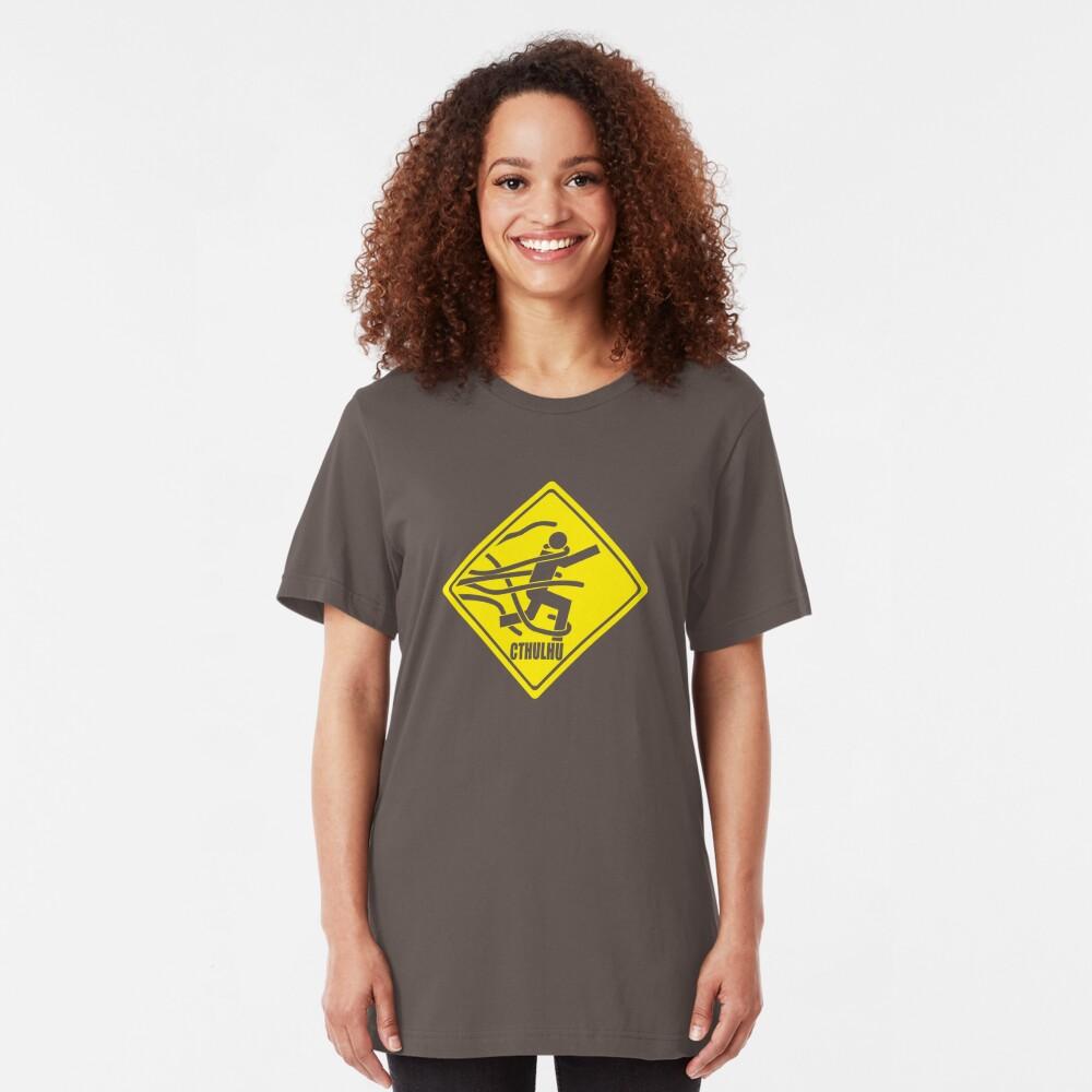 Warning: Cthulhu Slim Fit T-Shirt