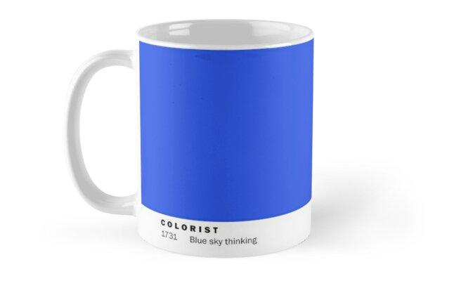 Colorist Mug 1731 Blue Sky Thinking by David Plummer