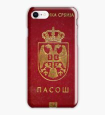 Serbian passport  iPhone Case/Skin