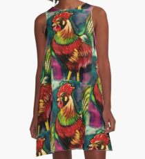 Rooster A-Line Dress