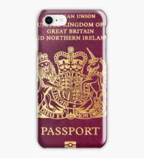 British passport  iPhone Case/Skin