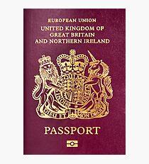 British passport  Photographic Print