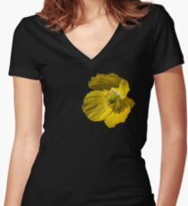 Summer Poppy Women's Fitted V-Neck T-Shirt