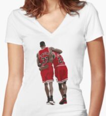 The Flu Game Women's Fitted V-Neck T-Shirt