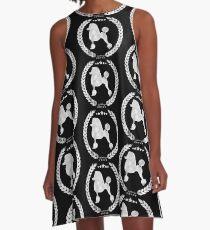 Poodle Camo Grey A-Line Dress