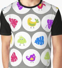 pattern with funny colored birds Graphic T-Shirt