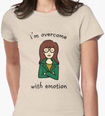 Daria Quotes - I'm overcome with emoticon Womens Fitted T-Shirt