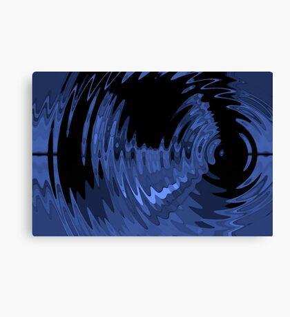 blue ripple Canvas Print
