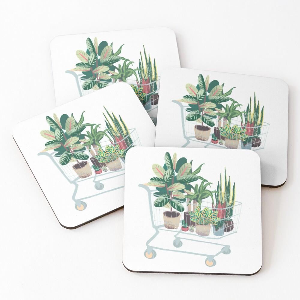 Plant friends Coasters (Set of 4)