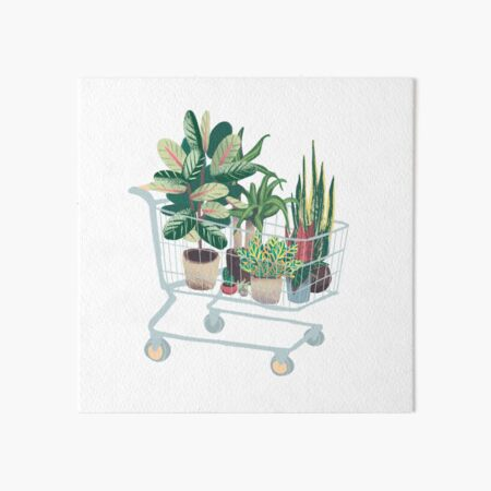 Plant friends Art Board Print