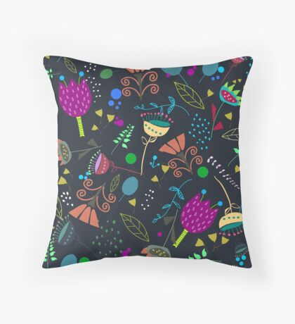 nightgarden Throw Pillow