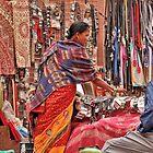 Shopping in Bhaktapur by Barbara  Brown