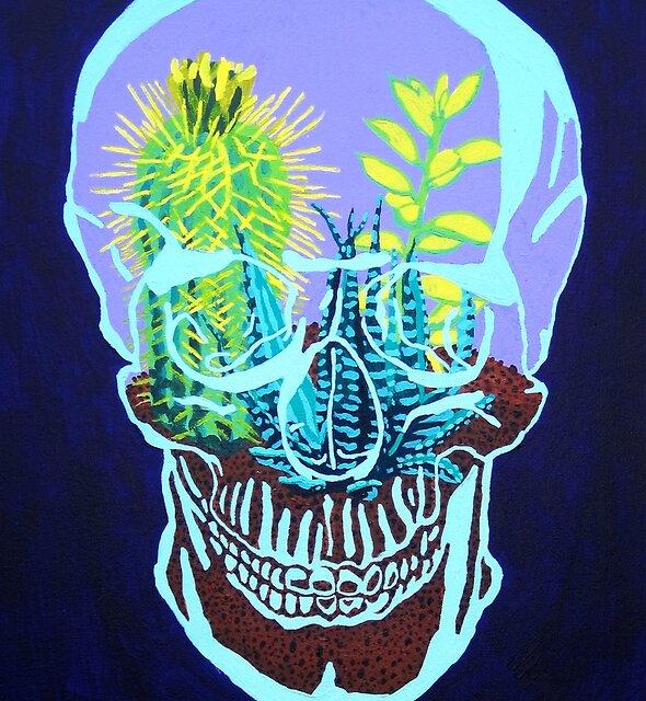 Skull Terrarium by RaLiz