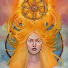 Sunna (Sol) Goddess of the Sun by DionysianArtist