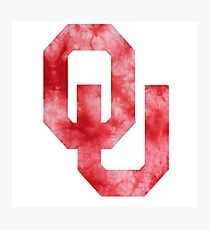 University of Oklahoma tie Dye Photographic Print